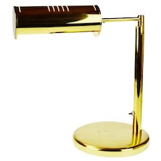 Vintage Brass Swing Arm Bankers Desk Lamp