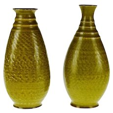 Vintage Canadian Pottery Ceramic Vases - A Pair