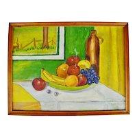 Vintage Framed Still Life Oil on Panel - Artist Signed