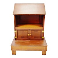 Vintage Table Top Portable Pulpit Bible Stand with Storage