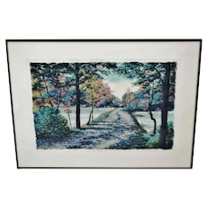 Vintage Framed Steve Bloom Pencil Signed Artist Proof Serigraph Early Seasons