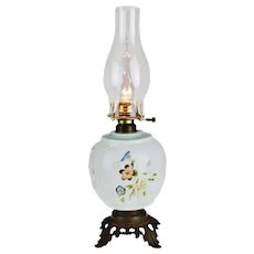 Vintage Hand Painted Electrified Oil Table Lamp