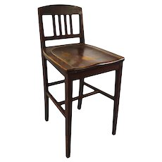 Antique Arts & Crafts Sikes Chair Company Counter Stool
