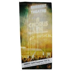 "Authentic Chorus Line Musical Forrest Theatre Billboard 78"" x 36"""