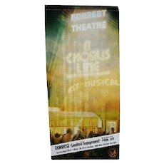 Authentic Chorus Line Musical Forrest Theatre Billboard