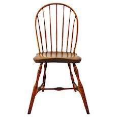 Antique Windsor Bow Back Plank Seat Side Chair