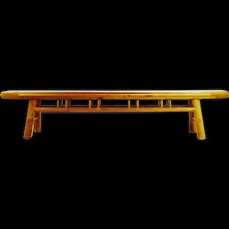 "Early Chinese Shanxi circa 1850 Elmwood Bench - 8'8"""