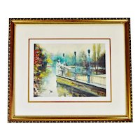 Vintage Framed Landscape Limited Edition Lithograph - Artist Signed