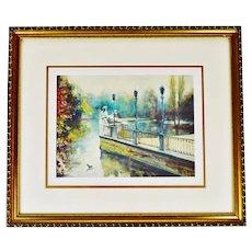 Vintage Framed Landscape Limited Edition Lithograph - Artist Signed