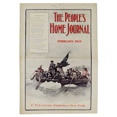 Antique February 1908 The People's Home Journal Magazine