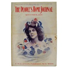 Antique September 1908 The Peoples Home Journal Magazine