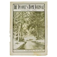 Antique January 1909 The Peoples Home Journal Magazine
