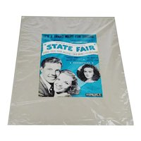 1943 - t's A Grand Night For Singing, Rogers & Hammerstein's State Fair Print Ad - Oklahoma Sheet Music