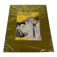 1935 Lights Out By Billy Hill Sheet Music, Music Score w/ COA