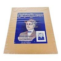 1909 Oh You Blondy Sheet Music, Music Score w/ COA