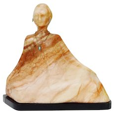 Vintage R.C. Gorman Style Marble Statue