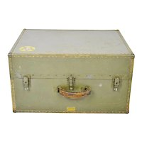 Authentic Military WWII Era Hartmann Seapack Trunk Chest