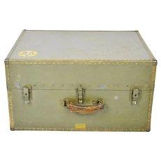 Authentic Military WWII Era Hartmann Seapack Trunk Chest
