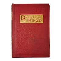 Antique 1800's Miniature Book Daily Food for Christians Daily Devotional