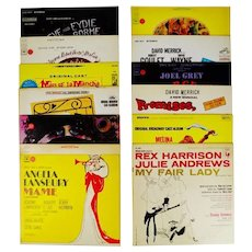 Collection of Vintage Decorative Broadway Musical LP Covers - 12