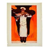 1921 Cream of Wheat Print Ad, Titled Encore, Walter Whitehead Art