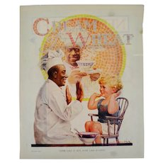 1924 Cream of Wheat Print Ad, Some Like It Hot Some Like It Cold Edw. Brewer Art