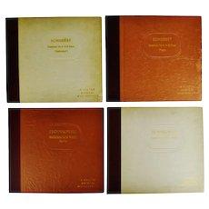 Vintage A Victor Musical Masterpiece Tschaikowsky & Schubert  78 RPM Record Sets