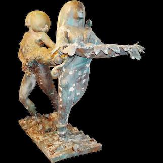 Authentic World Trade Center Sculptures - Goddesses of Abundance - 8' Tall