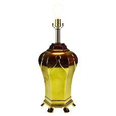 Mid Century Chapman Style Brass Table Lamp