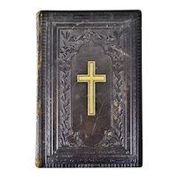 Antique Victorian Leather Bound German Bible