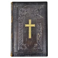 Antique Victorian Leather Bound German Bible
