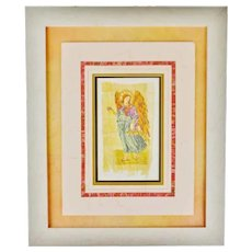 Vintage Carol McCrady Signed and Number Print of Arch Angel Raphael