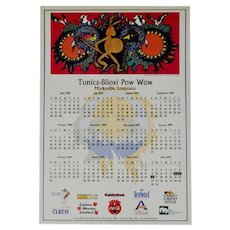 1998 Native American Indian Tunica - Biloxi Pow Wow Calendar