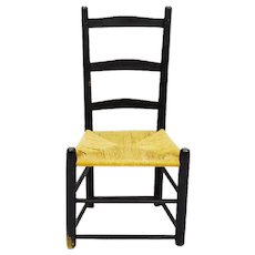 Vintage Rush Seat Slipper Chair