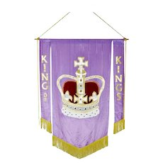Authentic Vintage Hand-Made Religious King of Kings Church Banner