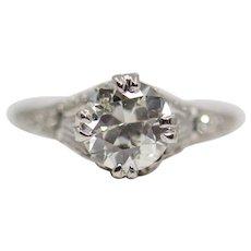 Art Deco 1.50ct Diamond Solitaire Engagement Ring in Platinum
