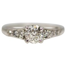 Cartier Mid Century 0.67 Carat Diamond Engagement Ring