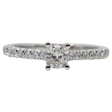 Tiffany & Co Novo Cushion Cut Diamond Engagement Ring in Platinum
