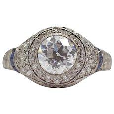 Sale! Art Deco 1.30ct GIA E VVS2 Diamond Engagement Ring