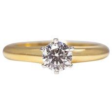 Sale! Vintage Tiffany & Company 0.54ct Diamond Engagement Ring