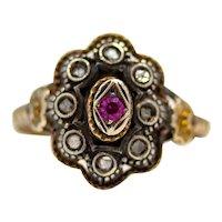 Sale! Georgian Style Rose Cut Diamond Ring in Yellow Gold