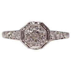 Enchanting Edwardian Platinum & Diamond Engagement Ring