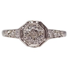 Sale! Enchanting Edwardian Platinum & Diamond Engagement Ring