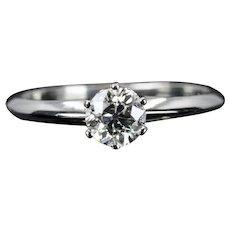 Vintage Tiffany & Company 0.46ct Diamond Engagement Ring in Platinum