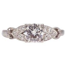 Sale! 1920's Art Deco Diamond Engagement Ring in Platinum
