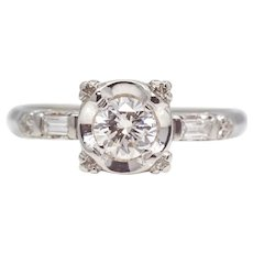 Vintage American 0.50ct Diamond Engagement Ring