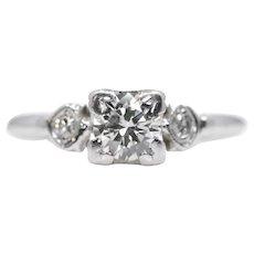 Vintage 1950's 0.50ct Diamond Engagement Ring in Platinum