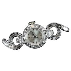 Rolex Exceptional Ladies Platinum & Diamond Wrist Watch