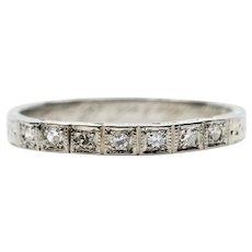 Art Deco 0.75ct Diamond Filigree Engagement Ring in Platinum