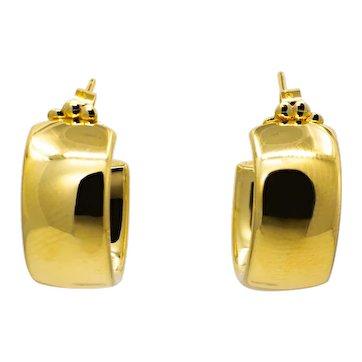 Vintage Tiffany & Co 18K Yellow Gold Huggie Earrings